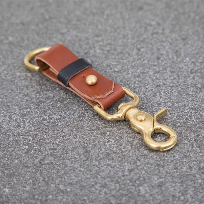 Tan Leather Keyring | JSYLEATHERWORKS