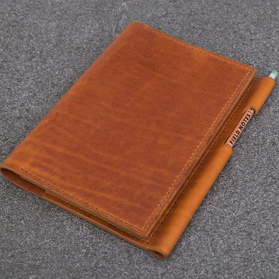 A5 Tan Leather Notebook | JSYLEATHERWORKS