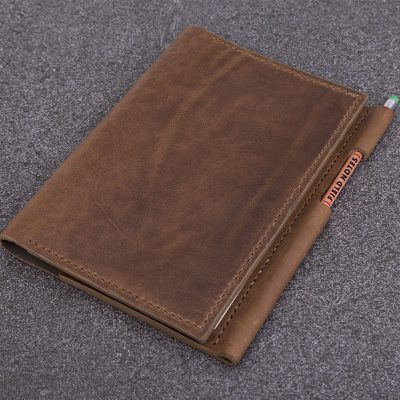 A5 Taupe Leather Notebook
