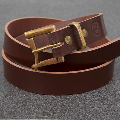 Brown Bridle Quick Release Copper Buckle Belt | JSYLEATHERWORKS