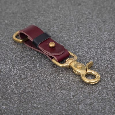 Oxblood Leather Keyring | JSYLEATHERWORKS