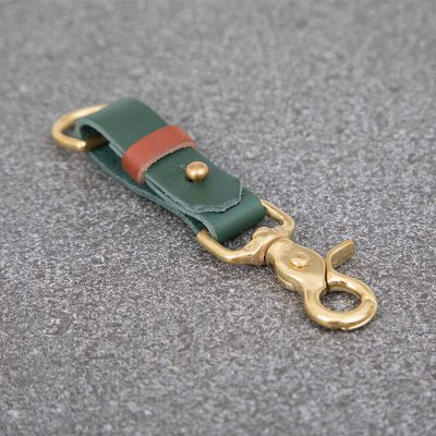 Racing Green Leather Keyring | JSYLEATHERWORKS